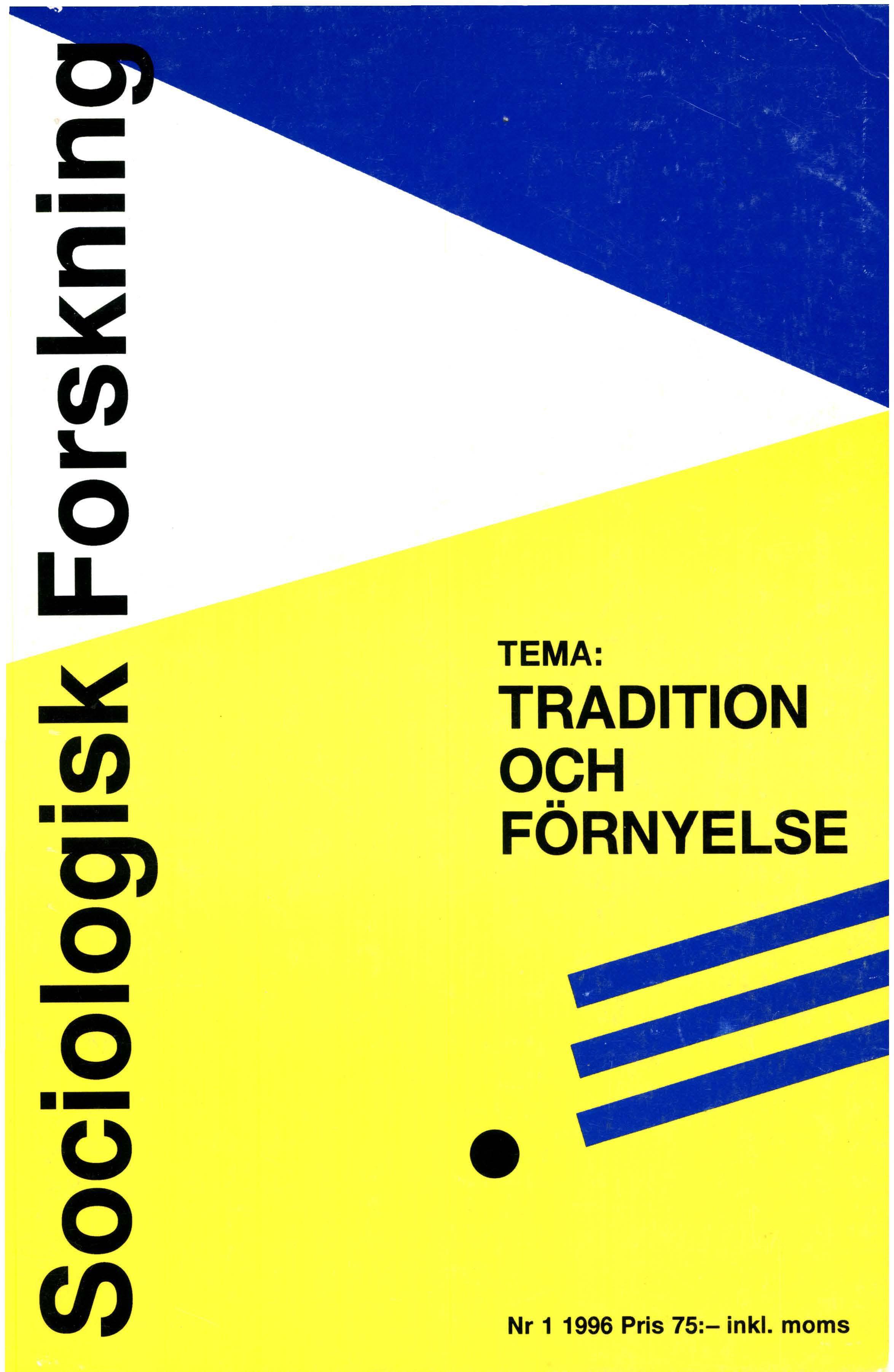 Visa Vol 33 Nr 1 (1996): Tema: Tradition och förnyelse