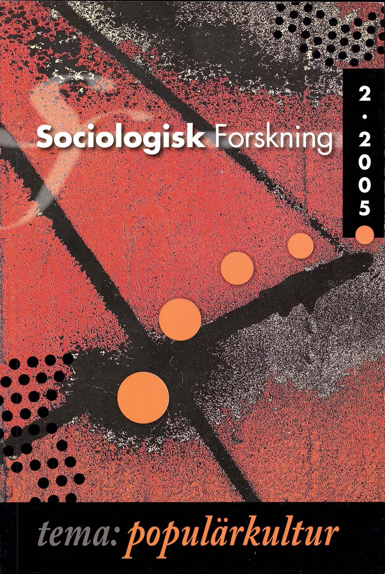 Visa Vol 42 Nr 2 (2005): Tema: Populärkultur