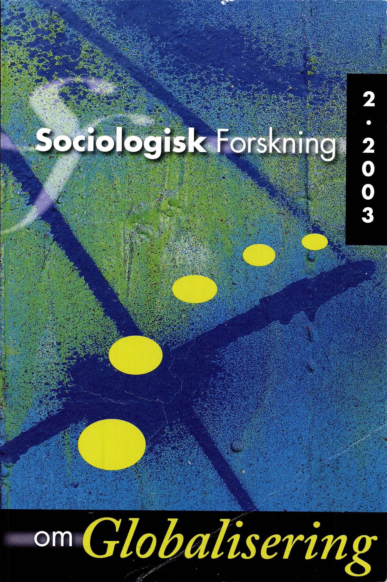 Visa Vol 40 Nr 2 (2003): Tema: Globalisering